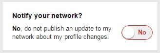 Notify Your Network?